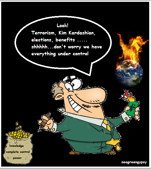 cartoon 5 burning earth