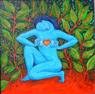 blue goddess open heart